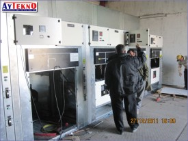 water treatment plant METAL CLAD cabin assembly