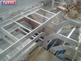 fume treatment plant tray assembly