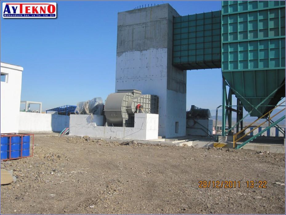 fume treatment plant filter
