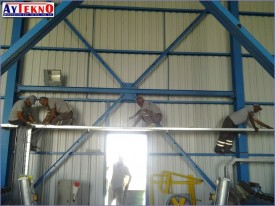 fume treatment plant cable pull
