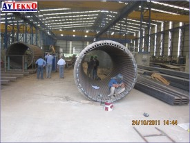 fume treatment plant assembly