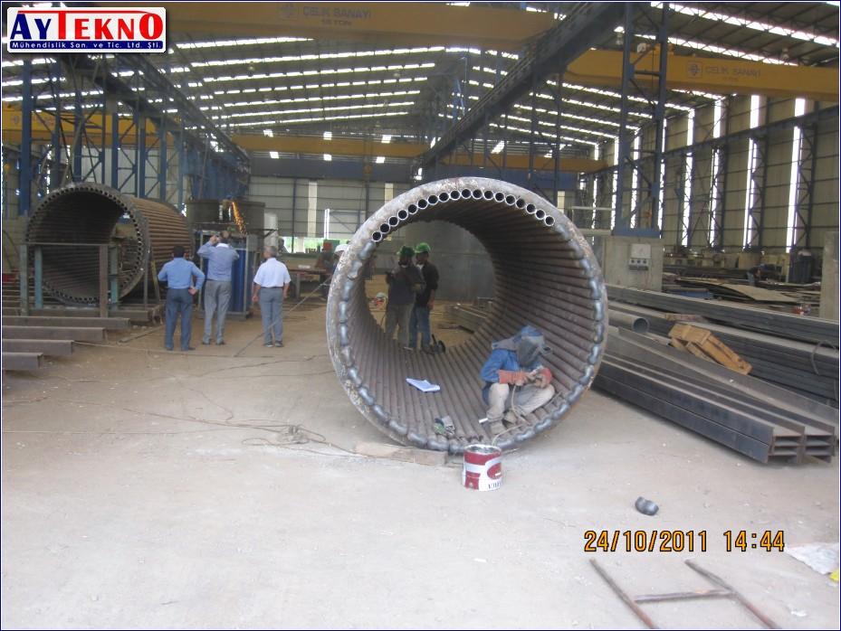 fume treatment plant assembly