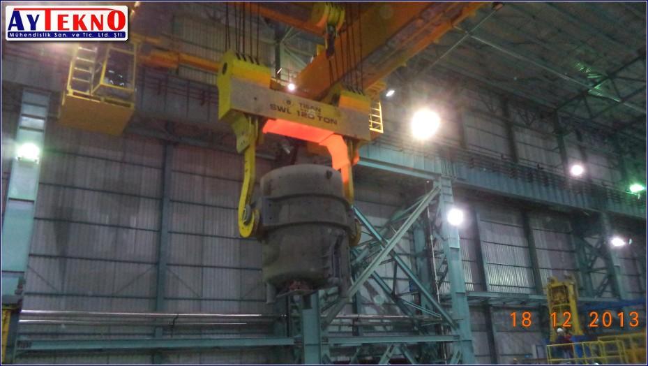 meltshop casting crane